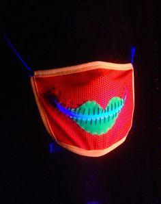 Neon Lover zipper gag mask for Burning Man raves by madebyjulianne, $35.00