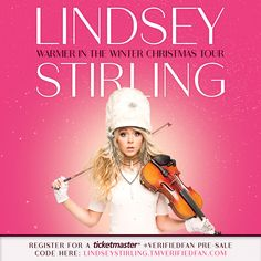 """Lindsey Stirling (@lindseystirling) på Instagram: """"Christmas is coming a few months early! I'm so excited to announce that I have a new Christmas…"""""""