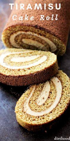 Tiramisu Recipe, Tiramisu Cake, Cake Roll Recipes, Dessert Recipes, Coffee Roll Cake Recipe, Cupcake Cakes, Cupcakes, Do It Yourself Food, Thanksgiving Desserts