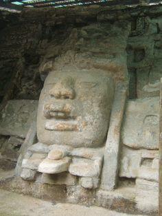 Mask Temple, Lamanai Mayan Ruins, Belize. March 2008.