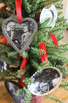 DIY Make a Family Tree with Handmade Christmas Ornaments