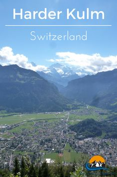 The Harder Kulm is the place to get one of the top views in Switzerland and took my breath away. Located at 1,321 meters (4,334ft) above sea level and around 800 meters above the town of Interlaken which lies below it, I would highly recommend visitors to this region to check this out.