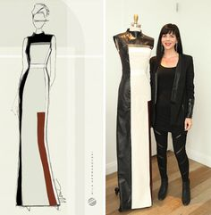 You voted that fashion designer Mila Hermanovski should make a leather gown inspired by Bauhaus movement for our HP Designer Matchup. Check out the final gown that Mila made with your help!