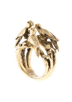 Just Fashion - JohannaN- Skog ring with a birds nest in brass Wax Carving, Ethical Fashion, Accessories Shop, Or Rose, Gold Glitter, Gold Rings, Silver Jewelry, Jewelry Design, Bling