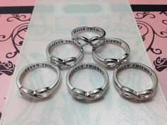 6 RINGS FOR Bridesmaid Gift  Forever Friends Infinity  6 Rings Free Giftwrap Hand Engraved Amazing Gift for Bridesmaid via Etsy