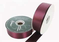 "#9 Burgundy Flora Satin Ribbon 1- 7/16"" X 100 Yards (1 Roll)"