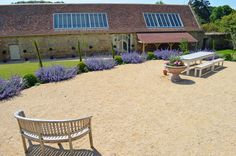 Heres how the Tithe Barn looks today.
