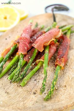 Prosciutto Wrapped Asparagus with a delicious Lemon Herb Aoili - we love this recipe!