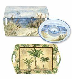 Beach Theme Decor Keller Charles #uniquedecor #tray