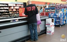 """""""Don't interrupt daddy time! I'm trying to be a good f*cking role model around here!"""" www.peopleofwalmart.com"""