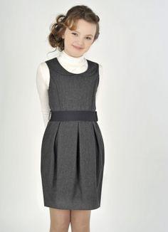 Школьное платье-тюльпан для девочек