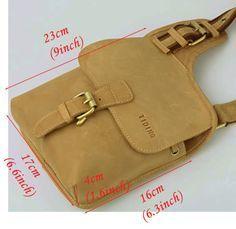 Vintage Men's Genuine Leather Shoulder Chest Sling Bags MXS Backpack Messenger Bag | eBay