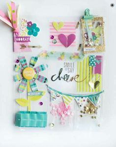 Love this clear pocket letter so bright and cheerful