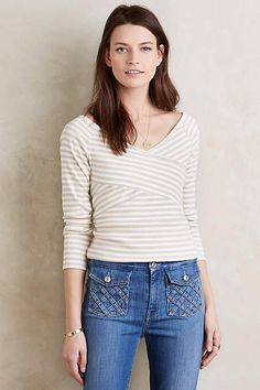 7f26beea326cac Striped Off-The-Shoulder Tee