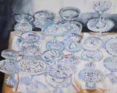 'Cake Plates' by Brita Granstrom (acrylic on canvas)