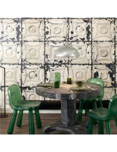 Brooklyn Tins by NLXL - Faded White - Wallpaper : Wallpaper Direct Brooklyn, Tin Walls, Tile Wallpaper, Contemporary Wallpaper, Paper Houses, Geometric Wall, Designer Wallpaper, Vintage Prints, Furniture Design