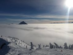 Above the clouds at Snow Rehab Canada 2016 Above The Clouds, Ski And Snowboard, Skiing, Canada, Mountains, Winter, Nature, Travel, Snow