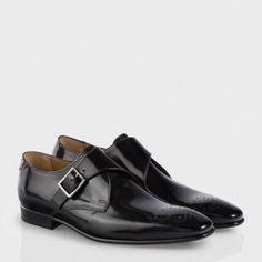 085cc45d30b25 Chaussures Paul Smith Homme   Chaussures Wren En Cuir Noir Ultra-Brillant  Accessoire Homme,
