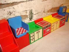 retro vintage dolls furniture