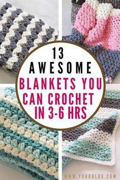 Crochet Baby Blanket Free Pattern, Crochet For Beginners Blanket, Free Crochet, Knitting For Beginners, Simply Crochet, Easy Crochet Blanket, Blanket Yarn, Merino Wool Blanket, Crochet Crafts
