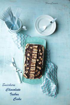 : Snickers Chocolate Icebox Cake