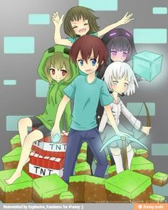 This is what i imagine minecraft would look like if it were an anime series XD And.if it were an anime Minecraft Comics, Minecraft Mobs, Minecraft Anime Girls, Minecraft Kunst, Minecraft Posters, Minecraft Drawings, Skins Minecraft, Minecraft Characters, Minecraft Fan Art