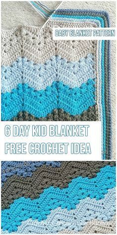 The 6-Day Kid Blanket [Free Crochet Pattern]