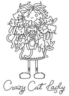 Cat Lady embroidery pattern from urban threads