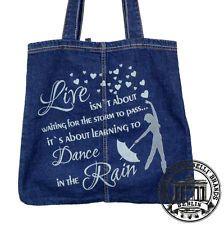 11.DANCE IN THE RAIN Jeans Denim Tote Bag Marionelli Tasche Beutel  Stofftasche