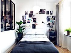 Masculino Negro y Dormitorio Blanco