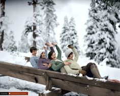 Grouse Mountain 1929 - 33 Colourized Photos That Make Canadian History Come To Life Christmas Style, Huron County, Lewis Hine, August Sander, Berenice Abbott, Horse And Buggy, Downtown Vancouver, Island 2, Color