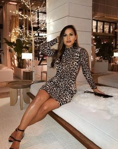 Fierce Look Leopard Dress - Brown - Daily Fashion Date Night Outfit Classy, Night Outfits, Classy Outfits, Sexy Outfits, Chic Outfits, Fashion Outfits, Trendy Outfits, Girl Outfits, Vintage Dresses