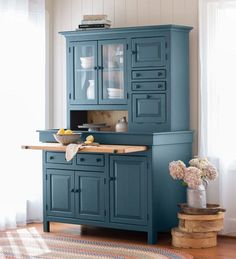 Large Painted Finish Conestoga Cupboard   Kitchen Furniture
