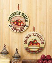 Apple Kitchen Decor, Kitchen Themes, Kitchen Ideas, Kitchen Walls, Apple Decorations, Kitchen Decorations, Apple Theme, Western Decor, Window Coverings
