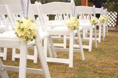 white resin folding chairs wedding - Google Search