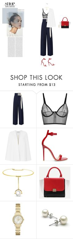 """""""Elegance"""" by naudad ❤ liked on Polyvore featuring Marni, La Perla, Amanda Wakeley, Gianvito Rossi, WithChic and Kate Spade"""