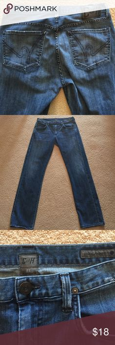 """Citizens of Humanity Straight Leg Jeans Size 31. These are the softest jeans you'll ever find. Broken in and ready for you. Priced accordingly. 31"""" inseam. Citizens of Humanity Jeans Straight Leg"""