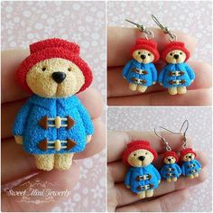 Paddington handmade polymer clay