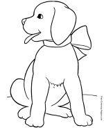 Animal coloring pages - Dog