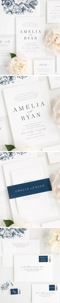 A romantic serif font mixed with modern calligraphy? Yes please! Our new Amelia wedding invitation suite makes a big statement while still remaining simple and classic. If you are looking for a gorgeous way to tie it all together, check out our new 100% c