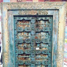 Rustic Furniture, Antique Furniture, Yoga Room Decor, Antique Doors, Stone Flooring, Garden Gates, Teak Wood, Wood Doors, Doorway