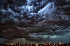 Derecho Storm Hits New York: Here's a Picture of the New York City Skyline at Approximately 8 PM, July New York Storm, Supernatural, Independance Day, Thunder And Lightning, Storm Clouds, Thunderstorms, Tornadoes, Amazing Nature, Mother Nature
