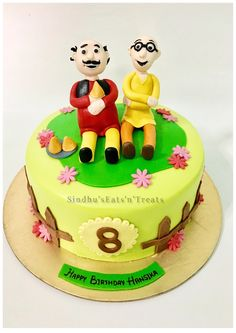 Happy Birthday Motu Patlu Cute Kids Cake With Your Nam birthday