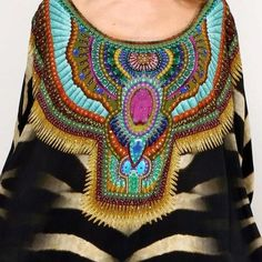 New Camilla Franks Silk Round Neck Bakora Swarovski Kaftan Dress OSFM | eBay