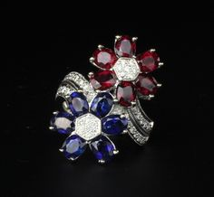 Ruby 2, Looking To Buy, Blue Sapphire, Fine Jewelry, White Gold, Diamond, Rings, Ring, Diamonds