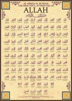 99 Names of Allah by Islamic Posters It has been narrated by Abu Hurairah that Allahs Messenger SAW said: Verily Allah has ninety-nine names, hundred bu. 99 Names of Allah