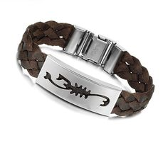 Genuine Leather Stainless Steel Weaving Bracelet at http://www.sneakoutfitters.com/Jewelry/Genuine-Leather-Stainless-Steel-Weaving-Bracelet-p3508.html