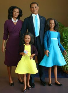 famille Obama American Family -Johnston originales del arte de Muñecas - Galería de Fotos-