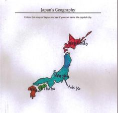 Free Printable Map of Japan to Colour