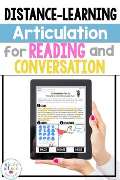 Perfect for distance learning or no print. Targets articulation at the reading and conversation level.